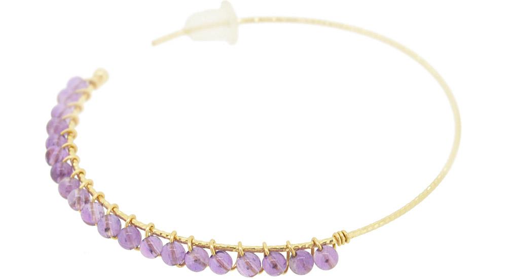 Amethyst<br>13W-230 Candy pierced earrings (S) ¥18,000+tax<br>13W-240 Candy pierced earrings (M)¥21,000+tax<br>13W-250 Candy pierced earrings (L) ¥24,000+tax