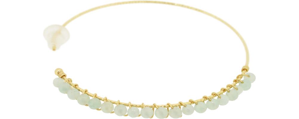 Amazonite<br>13W-230 Candy pierced earrings (S) ¥18,000+tax<br>13W-240 Candy pierced earrings (M)¥21,000+tax<br>13W-250 Candy pierced earrings (L) ¥24,000+tax