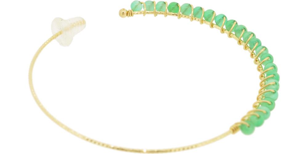 Green Onyx<br>13W-230 Candy pierced earrings (S) ¥18,000+tax<br>13W-240 Candy pierced earrings (M)¥21,000+tax<br>13W-250 Candy pierced earrings (L) ¥24,000+tax