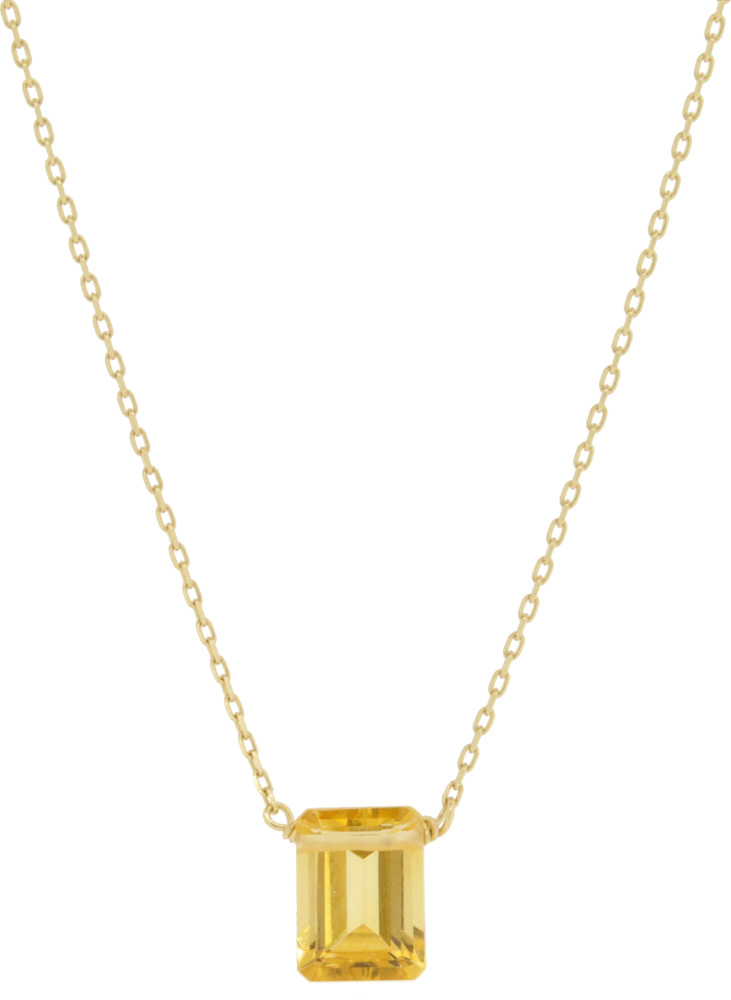 Citrine<br>13W-210 Candy Necklace (S) 36+4cm ¥16,000+tax<br>13W-220 Candy Necklace (L) 39+3cm ¥19,000+tax