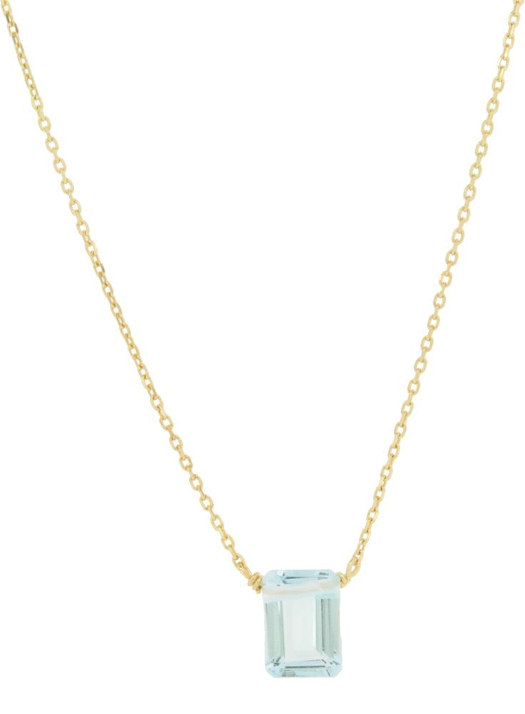 Blue Topaz<br>13W-210 Candy Necklace (S) 36+4cm ¥16,000+tax<br>13W-220 Candy Necklace (L) 39+3cm ¥19,000+tax