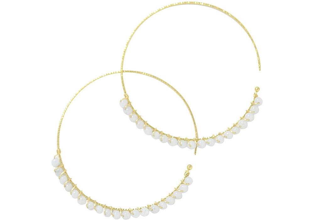 Blue lace agate<br>13W-230 Candy pierced earrings (S) ¥18,000+tax<br>13W-240 Candy pierced earrings (M)¥21,000+tax<br>13W-250 Candy pierced earrings (L) ¥24,000+tax