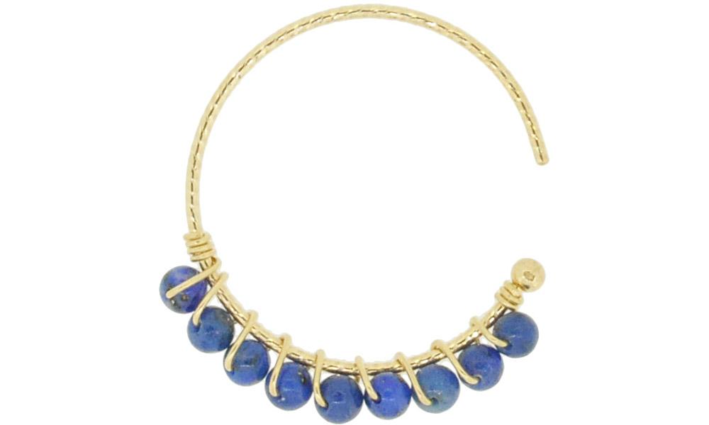 Lapis Lazuli<br>13W-230 Candy pierced earrings (S) ¥18,000+tax<br>13W-240 Candy pierced earrings (M)¥21,000+tax<br>13W-250 Candy pierced earrings (L) ¥24,000+tax