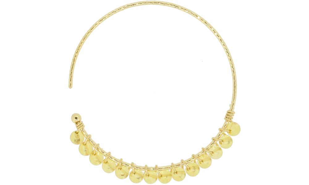 Citrine<br>13W-230 Candy pierced earrings (S) ¥18,000+tax<br>13W-240 Candy pierced earrings (M)¥21,000+tax<br>13W-250 Candy pierced earrings (L) ¥24,000+tax