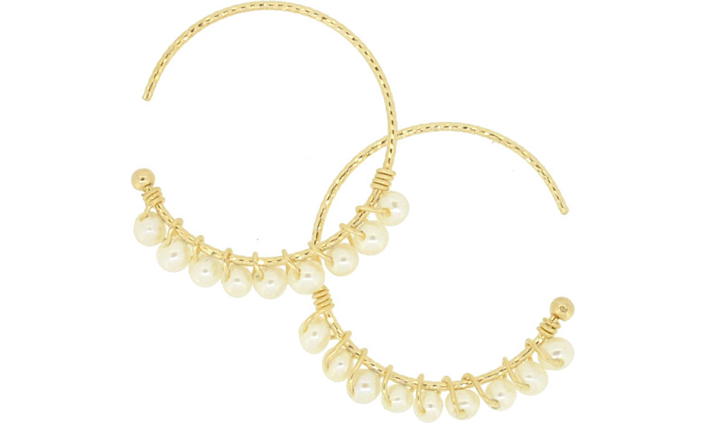 Pearl<br>13W-230 Candy pierced earrings (S) ¥18,000+tax<br>13W-240 Candy pierced earrings (M)¥21,000+tax<br>13W-250 Candy pierced earrings (L) ¥24,000+tax