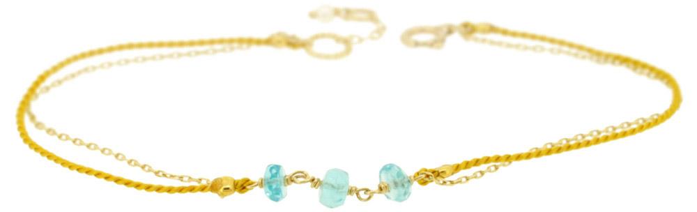 Blue topaz×Yellow 13W-410 Witch Bracelet 16+1cm ¥12,000+tax
