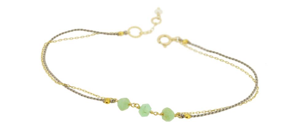 Chrysoprase×Grey 13W-410 Witch Bracelet 16+1cm ¥12,000+tax