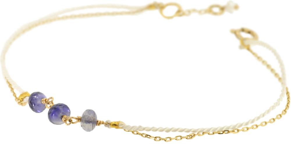 Iolite×White 13W-410 Witch Bracelet 16+1cm ¥12,000+tax