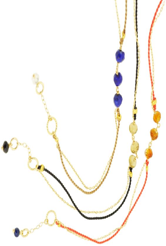 Lapis lazuli×Beige, Beer quartz×Black, Brandy citrine 13W-410 Witch Bracelet 16+1cm ¥12,000+tax