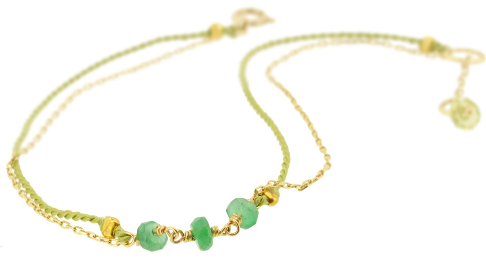 Emerald×Lime green 13W-410 Witch Bracelet 16+1cm ¥12,000+tax