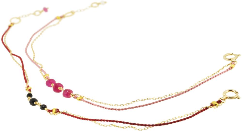 Ruby×Pink, Onyx×Red 13W-410 Witch Bracelet 16+1cm ¥12,000+tax