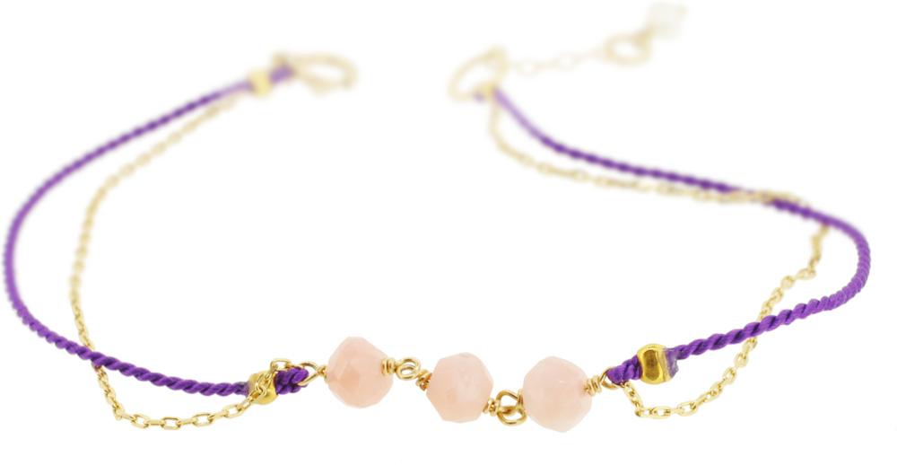 Pink opal×Purple 13W-410 Witch Bracelet 16+1cm ¥12,000+tax