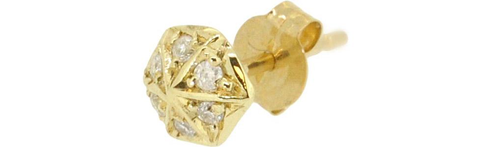 13W-508 Gletel pierced earring Dia ¥15,000+tax