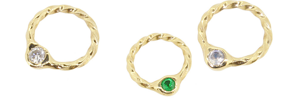 Apr. Diamond, May. Emerald, Jun. Moon Stone<br>13W-606 Birth Stone Ring #1-#15 ¥14,000+tax
