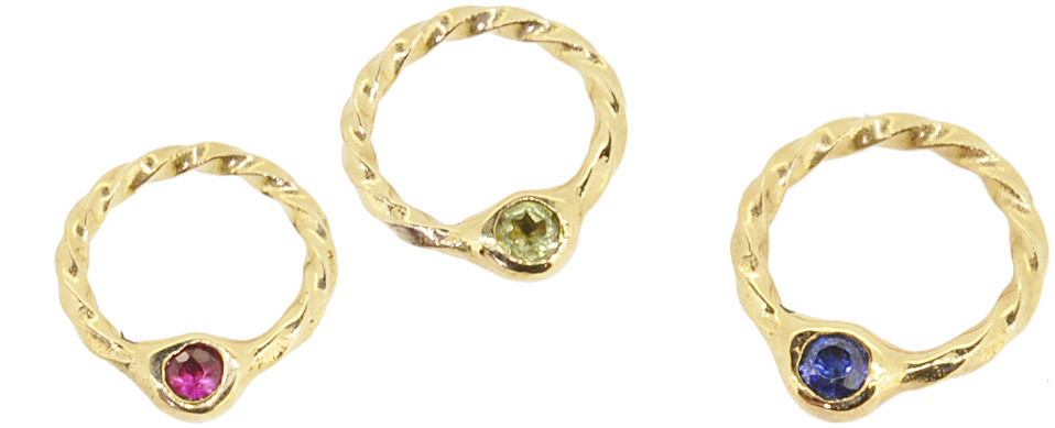 Jul. Ruby, Aug. Peridot, Sep. Sapphire<br>13W-606 Birth Stone Ring #1-#15 ¥14,000+tax