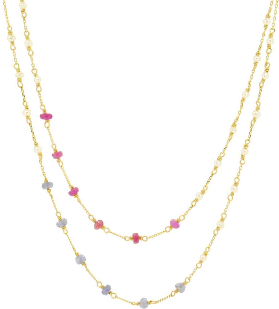 Ruby, Tanzanite<br>14W-304 ¥21,000+tax 46+4cm