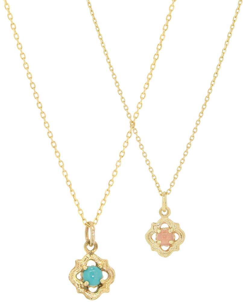 rhodochrosite, Turquoise<br>14W-605 ¥18,000+tax 36+4cm